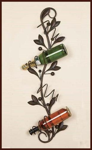 Ornamental Wine Wall Rack