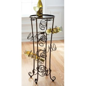 Spiral Wine Rack Table