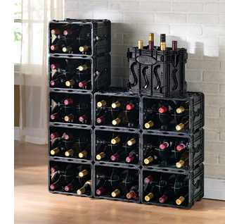 Black Modular Wine Rack